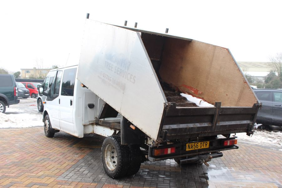 FORD TRANSIT 350 TDCI 110 LWB DOUBLE CAB HIGH SIDED ARBORIST TIPPER - 7454 - 5