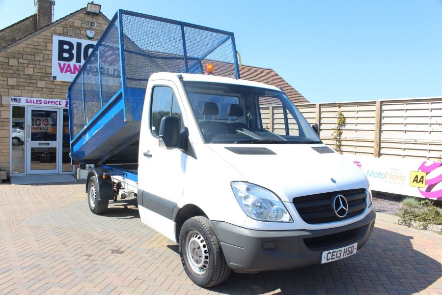 MERCEDES SPRINTER 313 CDI 129 MWB SINGLE CAB CAGED TIPPER - 9129 - 4
