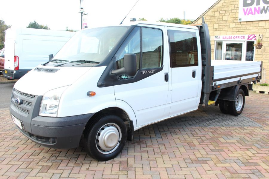 FORD TRANSIT 350 TDCI 125 LWB DOUBLE CAB 'ONE STOP' ALLOY DROPSIDE DRW RWD - 6761 - 8