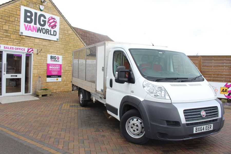 FIAT DUCATO 35 MAXI MULTIJET 130 13.5 FT ALLOY CAGED DROPSIDE WITH TAIL LIFT - 8868 - 2
