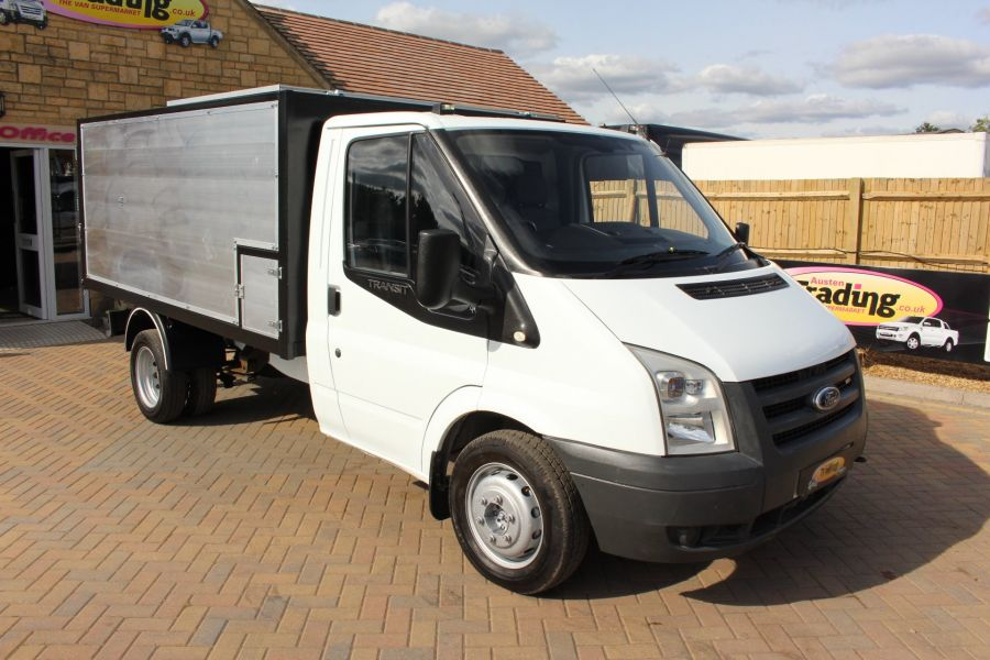 FORD TRANSIT 350 MWB SINGLE CAB HIGH SIDED ARBORIST ALLOY TIPPER - 6153 - 1