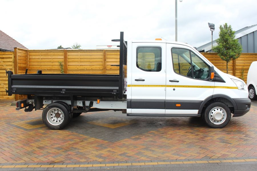 FORD TRANSIT 350 TDCI 125 L3 DOUBLE CAB STEEL TIPPER DRW - 6192 - 10