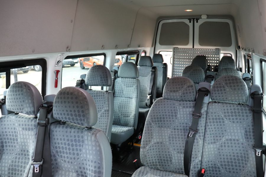 FORD TRANSIT 430 TDCI 135 EL LWB 17 SEAT BUS HIGH ROOF WITH WHEELCHAIR ACCESS RAMP DRW RWD - 10401 - 34