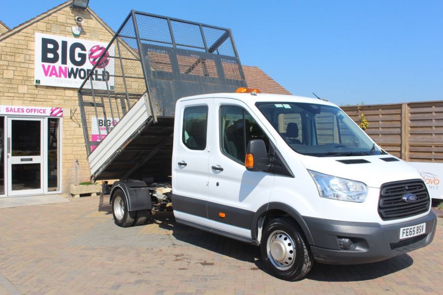 FORD TRANSIT 350 TDCI 125 L3 LWB 7 SEAT DOUBLE CAB 'ONE STOP' ALLOY TIPPER WITH STEEL CAGE DRW RWD - 9150 - 1