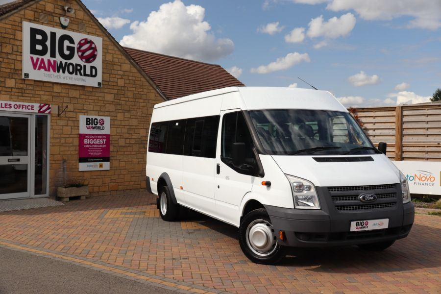 FORD TRANSIT 430 TDCI 135 EL LWB 17 SEAT BUS MEDIUM ROOF DRW RWD - 9732 - 1