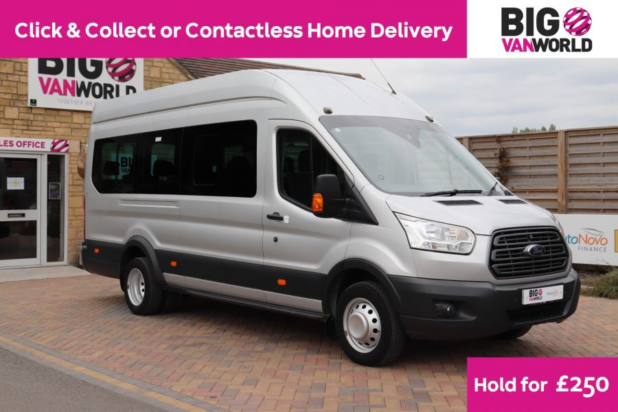FORD TRANSIT 460 TDCI 155 L4H3 TREND 17 SEAT BUS HIGH ROOF DRW RWD - 11641 - 1