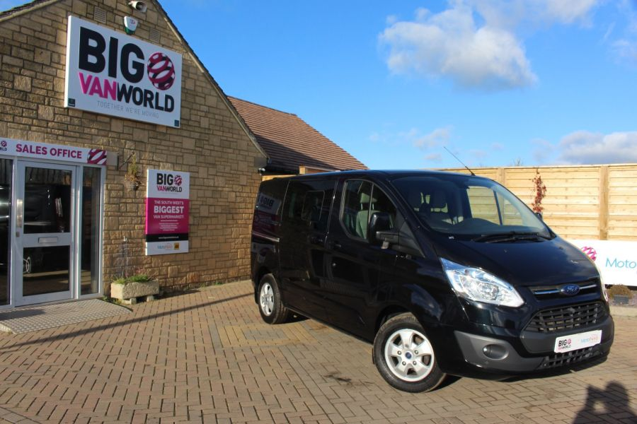 FORD TRANSIT CUSTOM 290 TDCI 155 L1 H1 LIMITED DOUBLE CAB 6 SEAT CREW VAN SWB LOW ROOF FWD - 7026 - 1