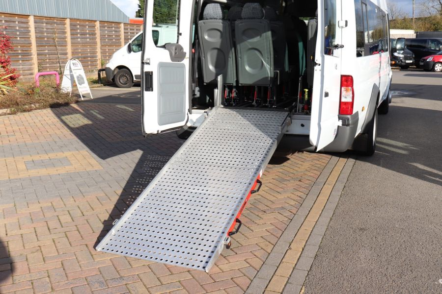 FORD TRANSIT 430 TDCI 135 EL LWB 17 SEAT BUS HIGH ROOF WITH WHEELCHAIR ACCESS RAMP DRW RWD - 10401 - 40