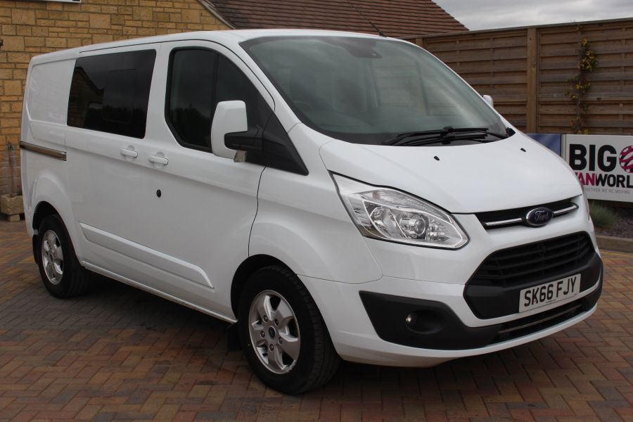 FORD TRANSIT CUSTOM 310 TDCI 170 L1 H1 LIMITED DOUBLE CAB 5 SEAT CREW VAN SWB LOW ROOF - 9234 - 1