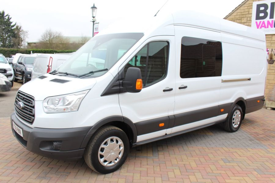 FORD TRANSIT 350 TDCI 155 L4 H3 TREND DOUBLE CAB 7 SEAT CREW VAN JUMBO HIGH ROOF  - 7472 - 8