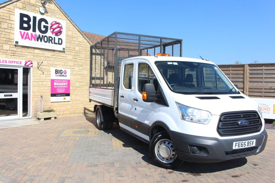 FORD TRANSIT 350 TDCI 125 L3 LWB 7 SEAT DOUBLE CAB 'ONE STOP' ALLOY TIPPER WITH STEEL CAGE DRW RWD - 9150 - 2