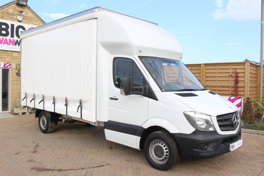 MERCEDES SPRINTER 313 CDI LWB 14FT CURTAIN SIDE LUTON BOX - 6147 - 2