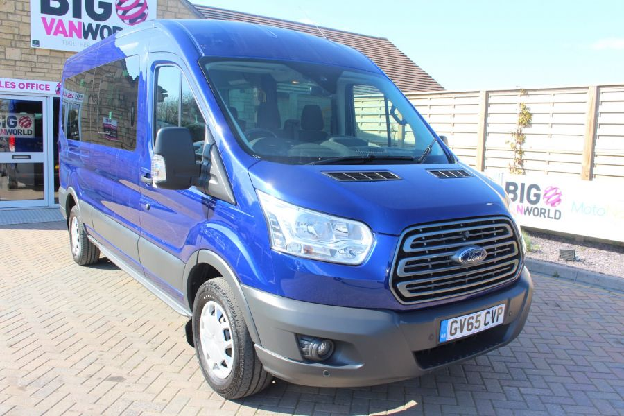 FORD TRANSIT 410 TDCI 125 L3 H2 TREND 15 SEAT BUS LWB MEDIUM ROOF RWD - 9007 - 1