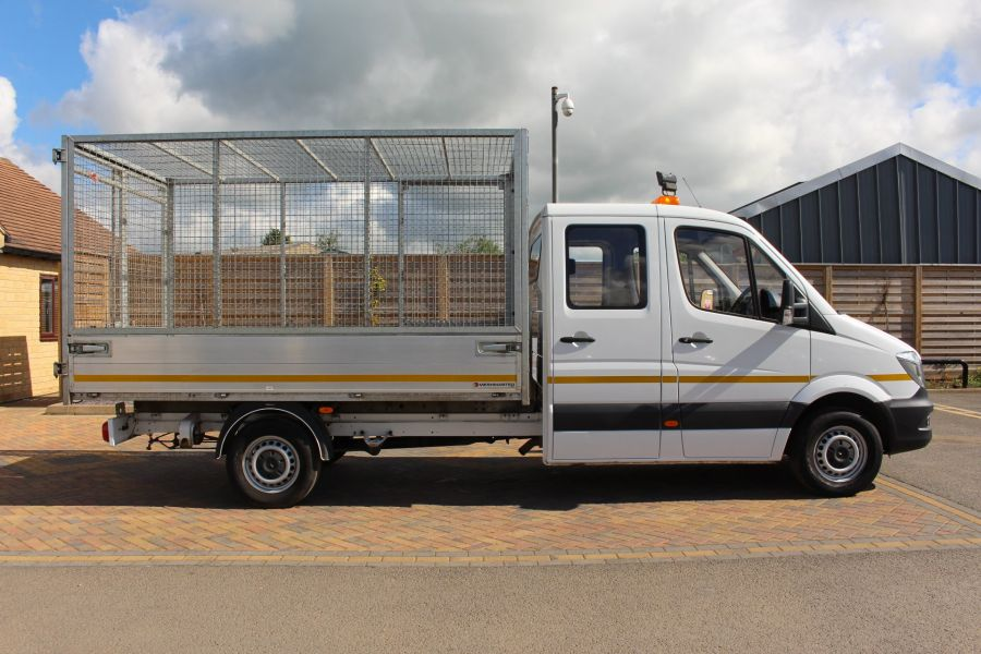 MERCEDES SPRINTER 314 CDI 140 DOUBLE CAB 6 SEAT CAGED ALLOY TIPPER - 9302 - 5