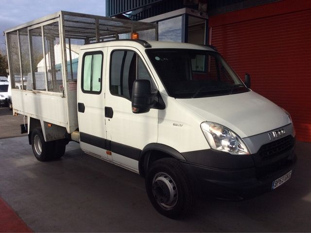 IVECO DAILY 65C17D 3.0 170BHP 3750 DOUBLE CAB CAGED TIPPER - 7005 - 1