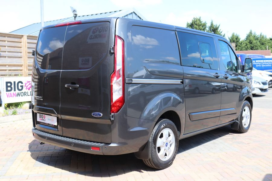 FORD TRANSIT CUSTOM 290 TDCI 125 L1H1 LIMITED DOUBLE CAB 6 SEAT CREW VAN SWB LOW ROOF FWD - 9474 - 5