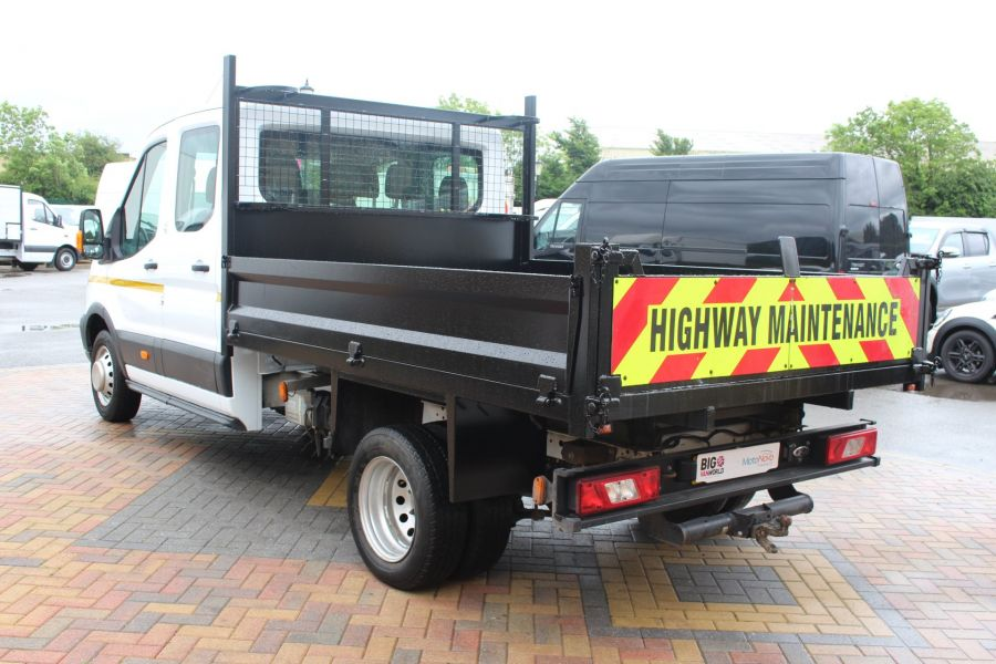 FORD TRANSIT 350 TDCI 125 L3 DOUBLE CAB STEEL TIPPER DRW - 6192 - 13