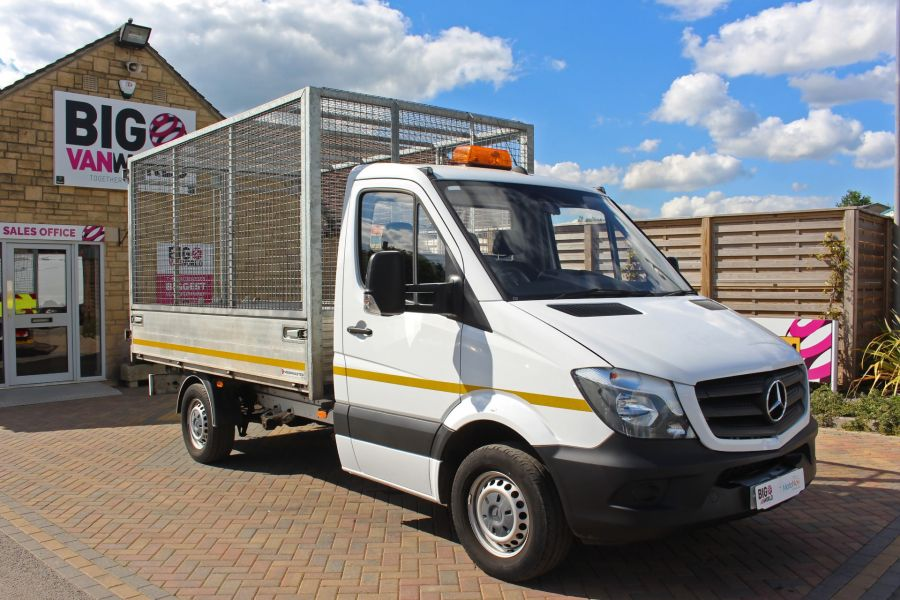 MERCEDES SPRINTER 314 CDI 140 SINGLE CAB CAGED ALLOY TIPPER - 9303 - 2