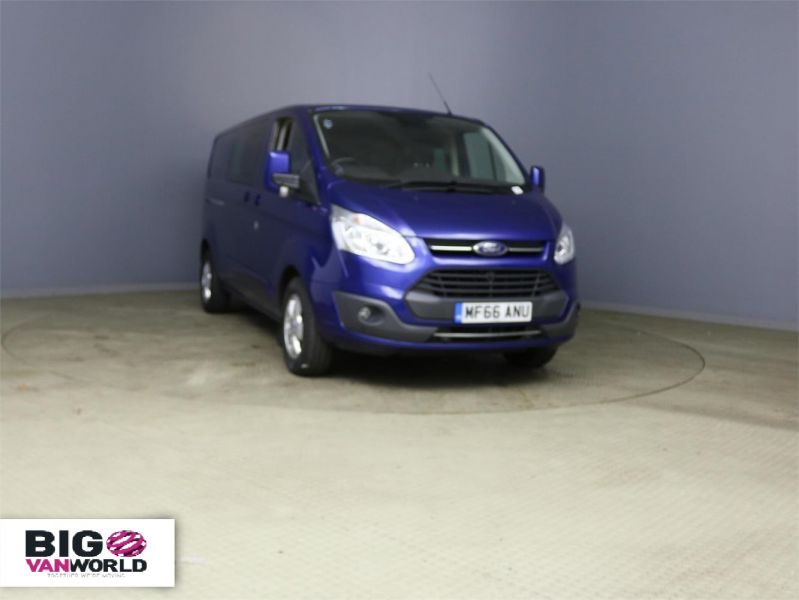 FORD TRANSIT CUSTOM 310 TDCI 170 L2H1 LIMITED DOUBLE CAB 6 SEAT CREW VAN LWB LOW ROOF - 10114 - 1