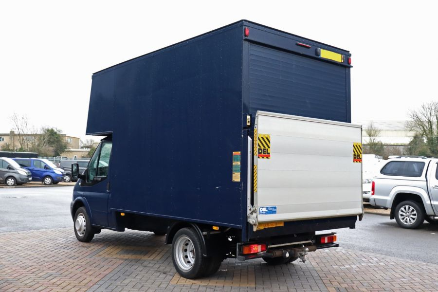 FORD TRANSIT 350 TDCI 100 MWB EXTRA HIGH LUTON BODY WITH TAIL LIFT DRW RWD - 10491 - 8