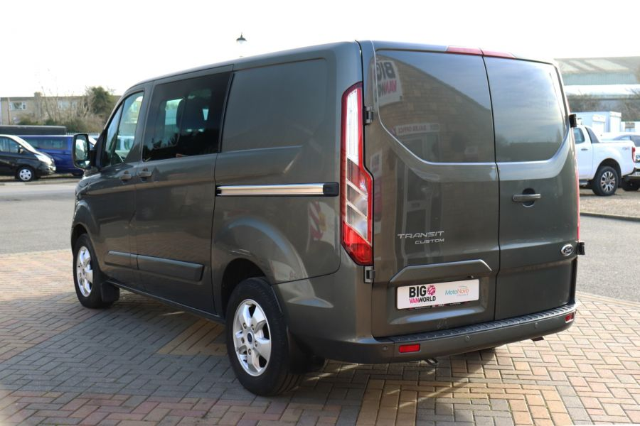 FORD TRANSIT CUSTOM 290 TDCI 130 L1H1 LIMITED DOUBLE CAB 6 SEAT CREW VAN SWB LOW ROOF - 10123 - 7
