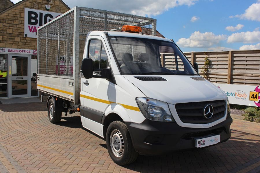MERCEDES SPRINTER 314 CDI 140 SINGLE CAB CAGED ALLOY TIPPER - 9303 - 3