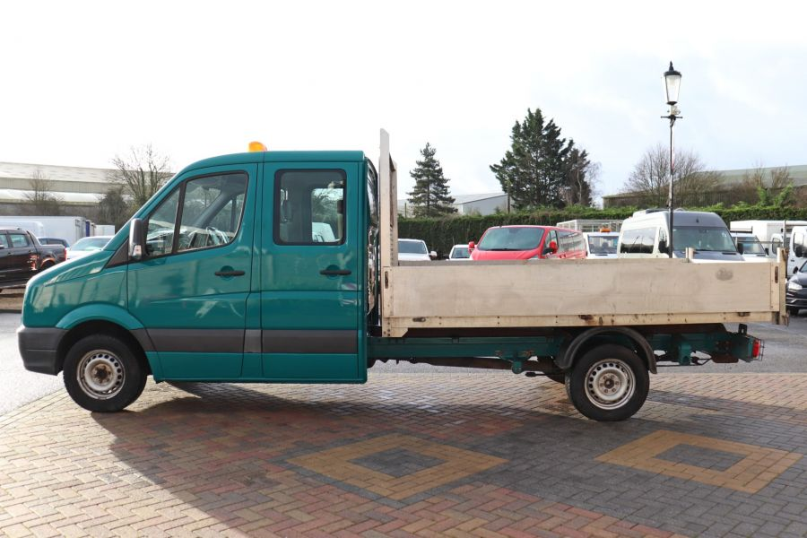VOLKSWAGEN CRAFTER CR35 TDI 109 LWB 7 SEAT DOUBLE CAB ALLOY TIPPER - 9967 - 19