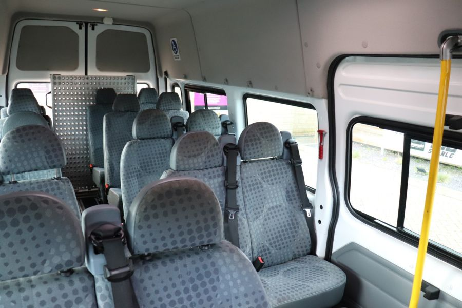 FORD TRANSIT 430 TDCI 135 EL LWB 17 SEAT BUS HIGH ROOF WITH WHEELCHAIR ACCESS RAMP DRW RWD - 10401 - 36
