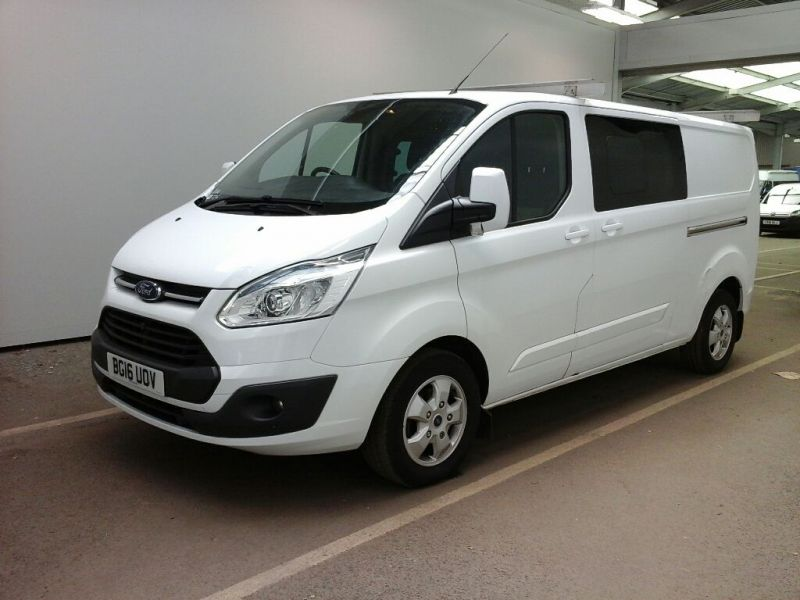 FORD TRANSIT CUSTOM 290 TDCI 125 L2H1 LIMITED DOUBLE CAB 6 SEAT CREW VAN LWB LOW ROOF FWD - 9731 - 1