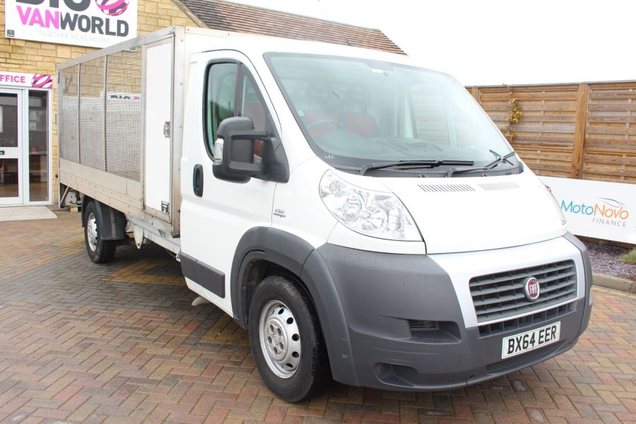 FIAT DUCATO 35 MAXI MULTIJET 130 13.5 FT ALLOY CAGED DROPSIDE WITH TAIL LIFT - 8868 - 1