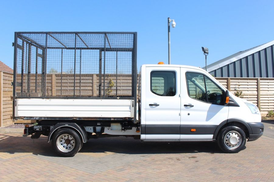 FORD TRANSIT 350 TDCI 125 L3 LWB 7 SEAT DOUBLE CAB 'ONE STOP' ALLOY TIPPER WITH STEEL CAGE DRW RWD - 9150 - 13