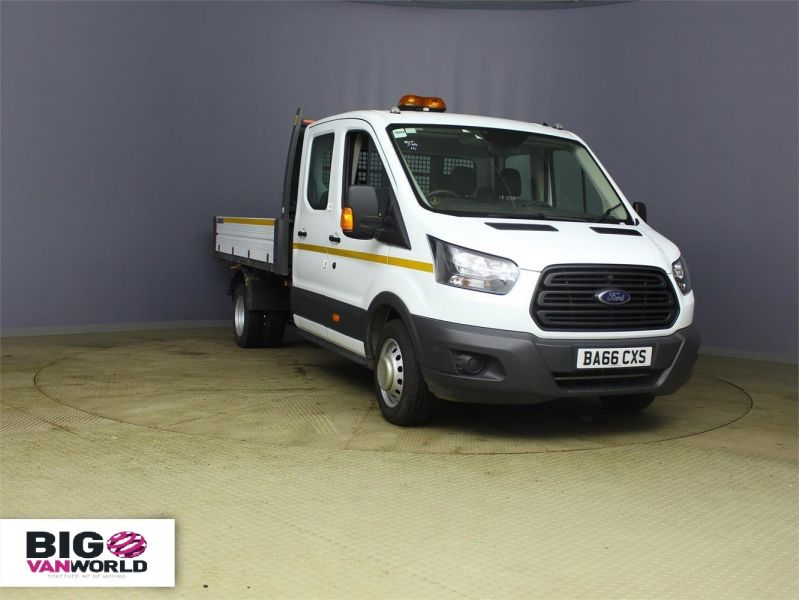 FORD TRANSIT 350 TDCI 130 L3 LWB 7 SEAT DOUBLE CAB 'ONE STOP' ALLOY TIPPER DRW RWD - 7634 - 1