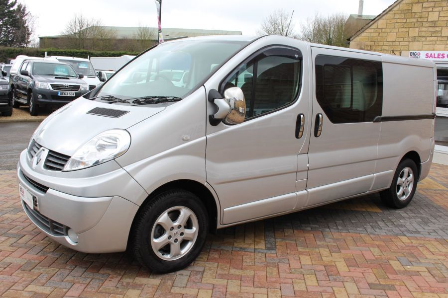 RENAULT TRAFIC LL29 DCI 115 SPORT LWB LOW ROOF DOUBLE CAB 6 SEAT CREW VAN - 7507 - 8