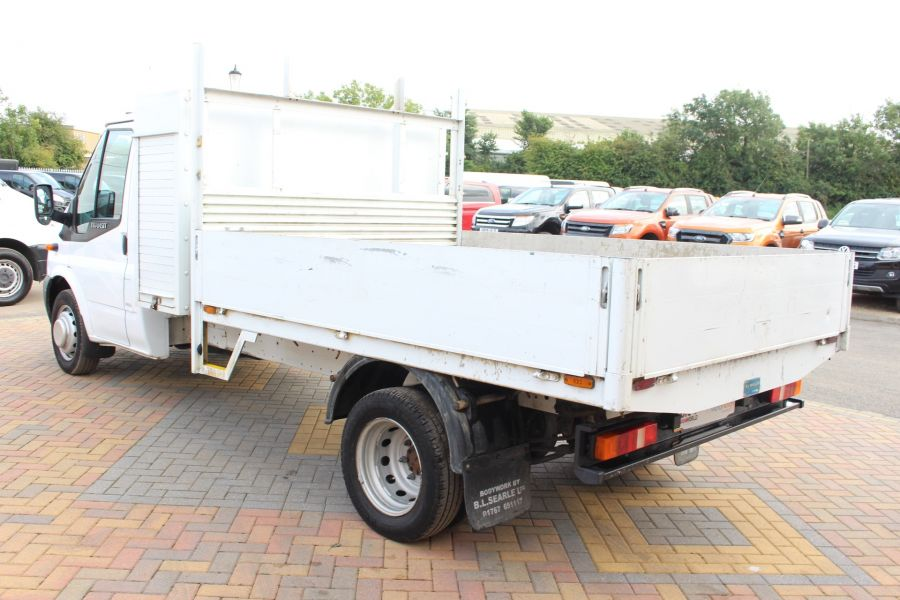 FORD TRANSIT 350 TDCI 100 LWB ALLOY DROPSIDE WITH TOOL BOX DRW - 6528 - 7