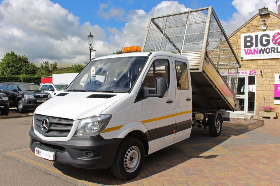 MERCEDES SPRINTER 314 CDI 140 DOUBLE CAB 6 SEAT CAGED ALLOY TIPPER - 9302 - 18