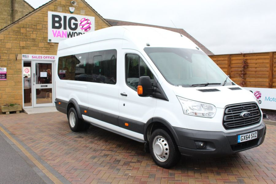 FORD TRANSIT 460 TDCI 125 L4 H3 TREND 17 SEAT BUS HIGH ROOF DRW RWD - 8462 - 3