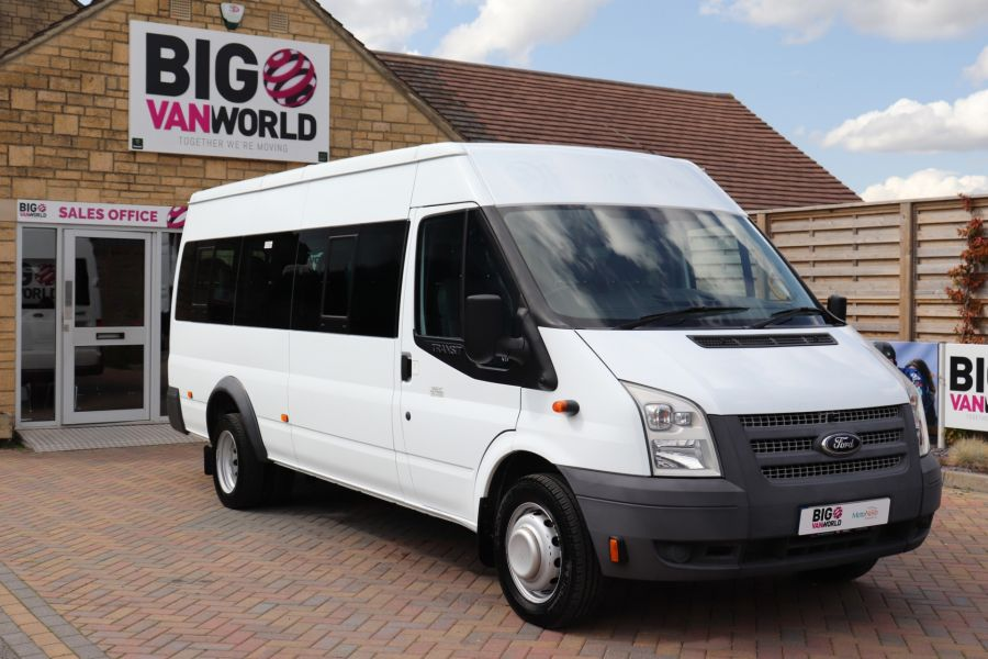 FORD TRANSIT 430 TDCI 135 EL LWB 17 SEAT BUS MEDIUM ROOF DRW RWD - 9732 - 2