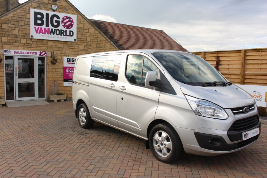 FORD TRANSIT CUSTOM 290 TDCI 125 L1 H1 LIMITED DOUBLE CAB 6 SEAT CREW VAN SWB LOW ROOF FWD - 6791 - 2