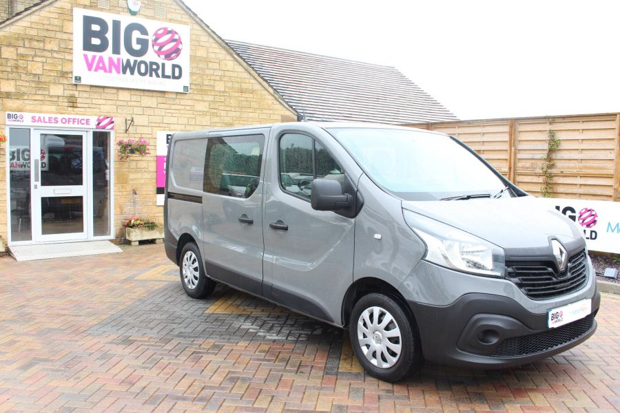 RENAULT TRAFIC SL27 DCI 115 BUSINESS DOUBLE CAB 6 SEAT CREW VAN SWB LOW ROOF - 8178 - 3