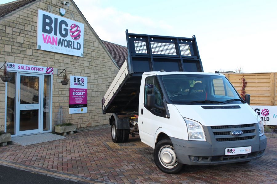 FORD TRANSIT 350 TDCI 100 MWB 'ONE STOP' ALLOY TIPPER DRW RWD - 6726 - 1
