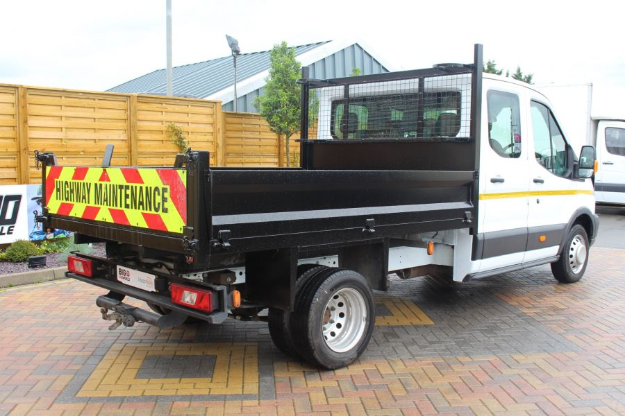 FORD TRANSIT 350 TDCI 125 L3 DOUBLE CAB STEEL TIPPER DRW - 6192 - 11