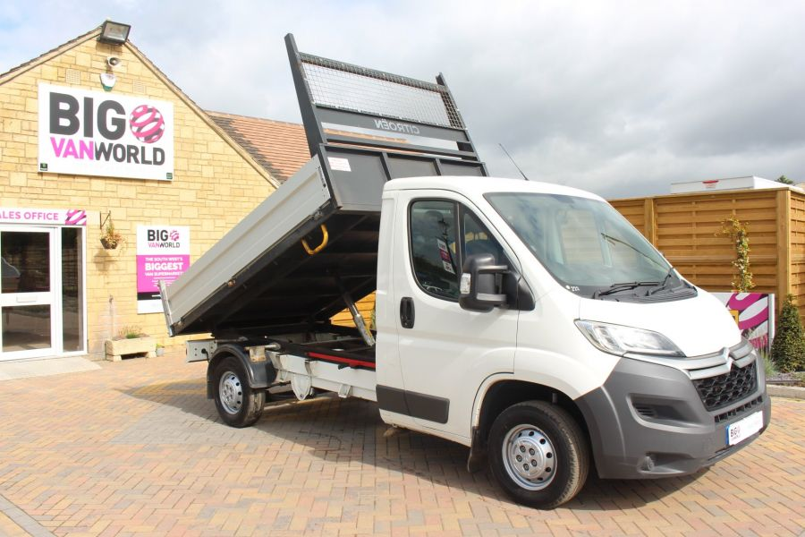 CITROEN RELAY 35 HDI 130 MWB L2 SINGLE CAB ALLOY TIPPER - 6202 - 2
