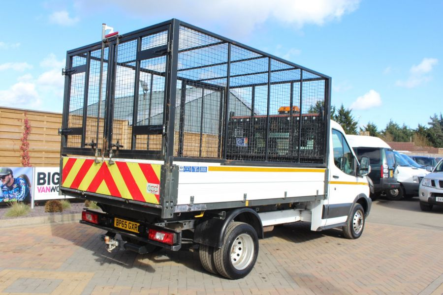 FORD TRANSIT 350 TDCI 125 SINGLE CAB 'ONE STOP' CAGED TIPPER DRW RWD - 7297 - 12