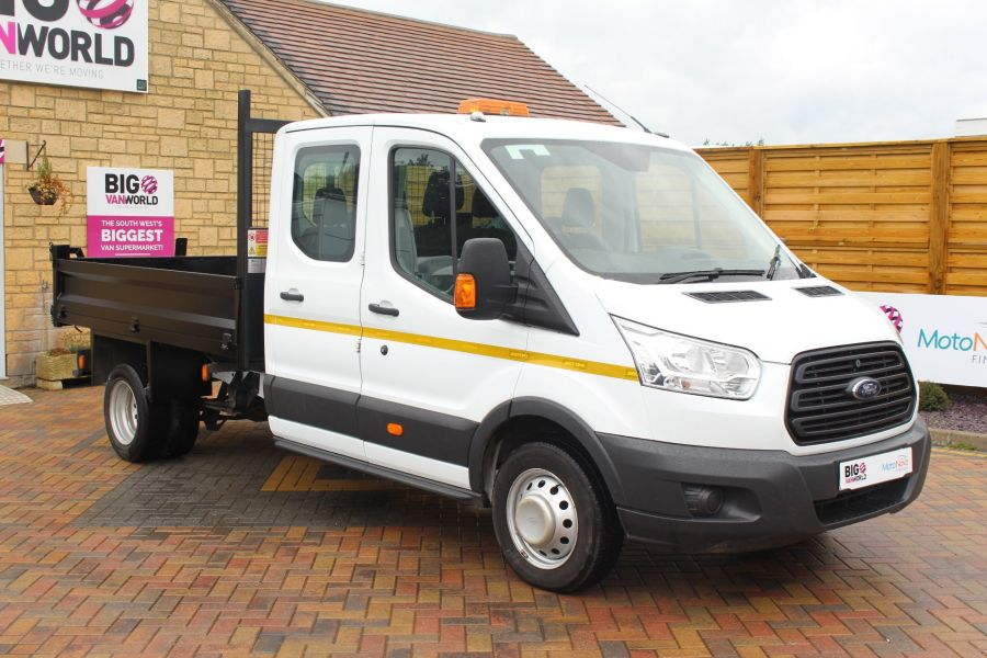 FORD TRANSIT 350 TDCI 125 L3 DOUBLE CAB STEEL TIPPER DRW - 6192 - 9
