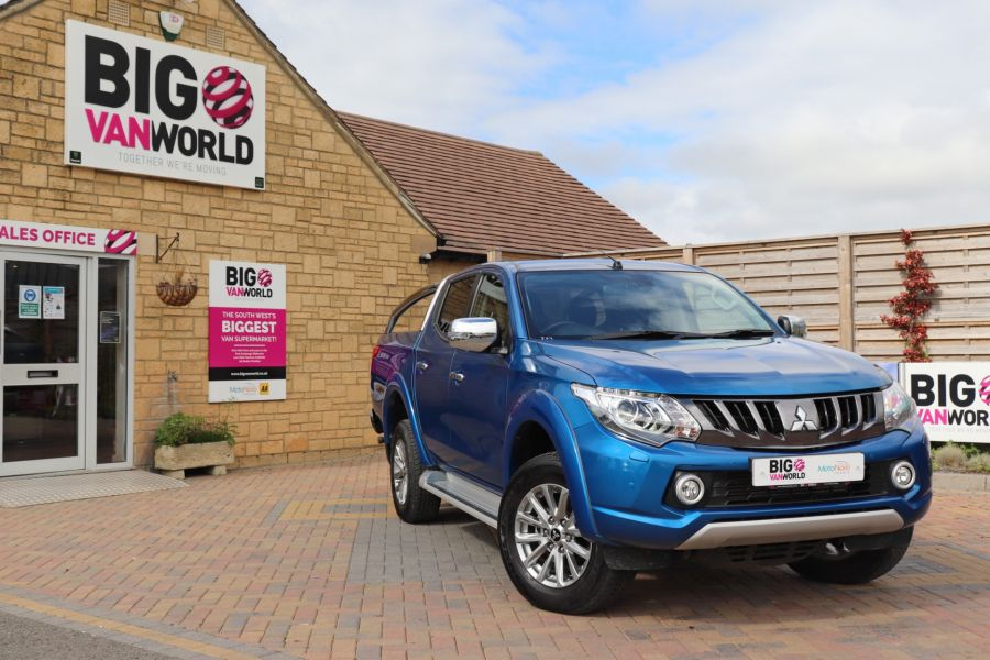 MITSUBISHI L200 DI-D 178 4WD WARRIOR DOUBLE CAB WITH ROLL'N'LOCK TOP - 11123 - 1