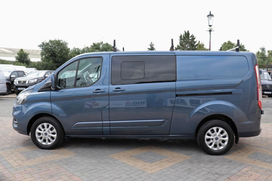 FORD TRANSIT CUSTOM 320 TDCI 130 L2 H1 LIMITED DOUBLE CAB 6 SEAT CREW VAN LWB LOW ROOF FWD - 9606 - 8