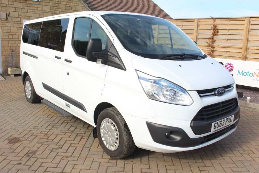 FORD TOURNEO CUSTOM 300 TDCI 125 ZETEC L2 H1 9 SEAT MINIBUS LWB LOW ROOF - 8771 - 1