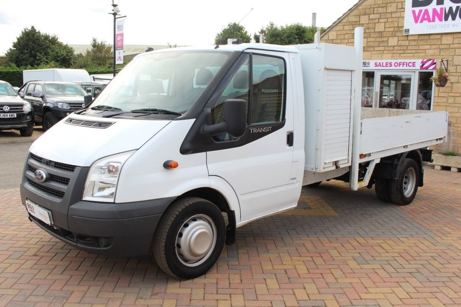 FORD TRANSIT 350 TDCI 100 LWB ALLOY DROPSIDE WITH TOOL BOX DRW - 6528 - 8
