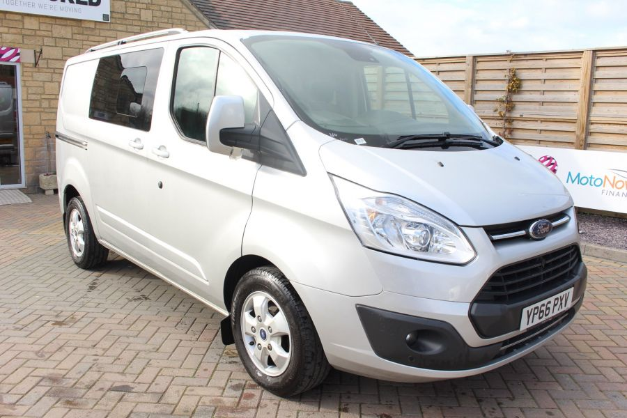 FORD TRANSIT CUSTOM 290 TDCI 170 L1 H1 LIMITED DOUBLE CAB 6 SEAT CREW VAN SWB LOW ROOF FWD  - 8973 - 1