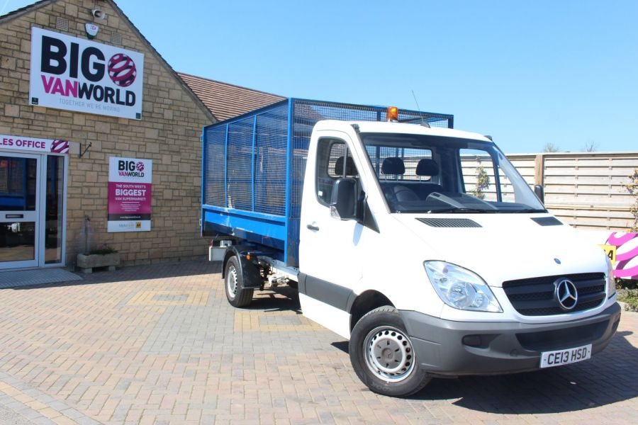 MERCEDES SPRINTER 313 CDI 129 MWB SINGLE CAB CAGED TIPPER - 9129 - 2